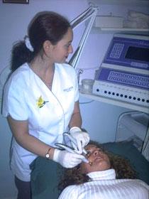 Beauty Technician delivering treatment